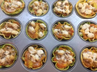 Cestini di crepes salati