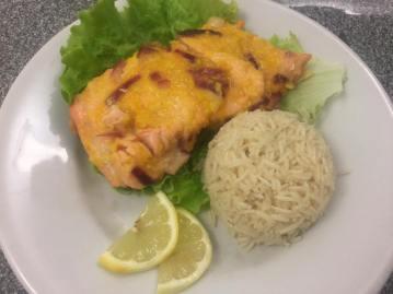 Salmone agli agrumi con riso pilaf