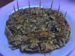 Frittata di carciofi e pancetta