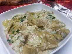 Minestra di riso e carciofi