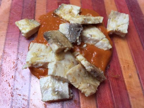 Pesce spada con salsa ai pomodori