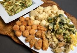 Fritto misto di verdure e formaggi
