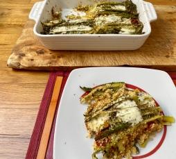Sformato di cous cous con asparagi e stracchino