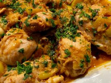 Pollo al curry con mele