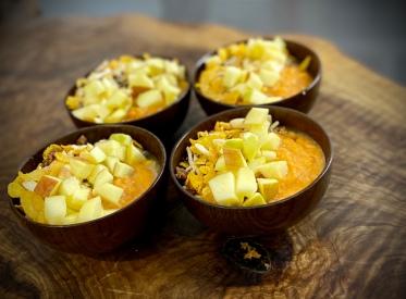 Smoothie di mele, carote e zenzero