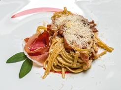 Bavette con culatello e Parmigiano